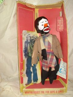 Vintage Emmett Kelly Jr Ventriloquist Doll Dummy by Horsman Irene Szor