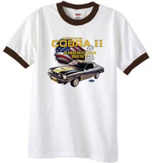 Ford 76 Mustang Cobra II Classic Car Ringer T Shirt