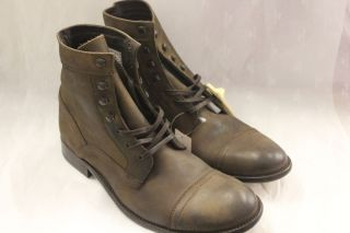 Kenneth Cole New York Mens Boots Game Place DK Brown US 11 5 Med