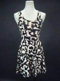 Kendall Jenner Divided Off White Black Pattern Tank Dress 4