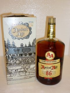 ANCIENT AGE 86 PROOF KENTUCKY STRAIGHT BOURBON WHISKEY HANDLE WITH BOX