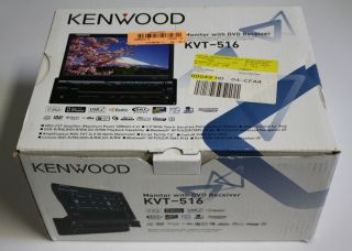 Kenwood KVT 516 in Dash 7 Touchscreen DVD CD MP3 Car Receiver Head