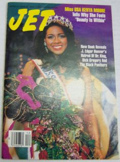 Jet Magazine Miss USA Kenya Moore March 1993 Digest Size 091112R