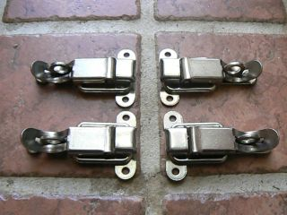 Lot 4 Kennedy Tool Boxes Locking Latch Mechanism Chrome Steel Guitar