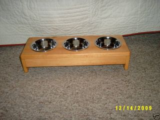Pet Feeder Dog Cat Stainless Bowls 1 Pint Size