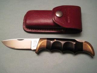 Kershaw 1050 Folding Field Hunting Knife with Sheath 1980s Kai Japan