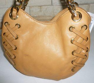 New Michael Kors Kenton Small Tote Shoulder Bag Leather Chamois Bag