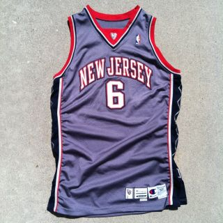 Authentic Champion Kenyon Martin New Jersey Nets Game Worn Used Jersey