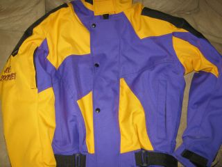 Joe Rocket Ballistic Motorcycle Jacket Kevlar and Lining Purple Yellow