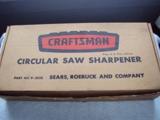 Roebuck Craftsman Circular Saw Sharpener
