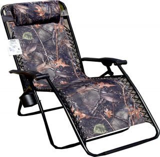 Jumbo Camo Zero Gravity Reclining Patio Chair NWT
