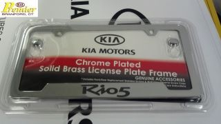 Kia RIO5 Chrome License Plate Frame 2012 New Rio 5 Door Stainless