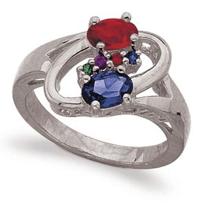 PARENTS CHILDREN FAMILY BIRTHSTONE MOTHERS RING AUSTRIAN CRYSTAL SIZE