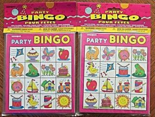 Player Boy Girl Children Kids Birthday Party Bingo Game Activity New