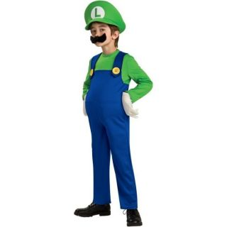 Mario Brothers Deluxe Luigi Child Kids Halloween Costume Large