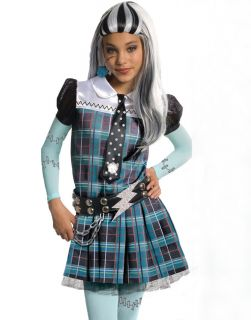 Deluxe Frankie Stein Teen Girls Kids Halloween Costume Outfit S