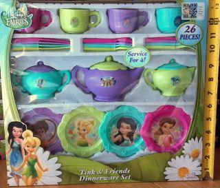 Tink Friends Dinnerware Set Children Girls Toddler Toy Play Fun