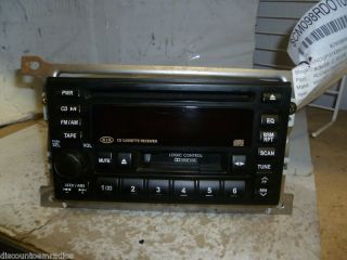 02 05 Kia Sedona Radio CD Cassette 1K5LC66860 Brackets