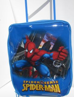 Kids Spider man Rolling Luggage cart carrier Roller carry Bag Toys New