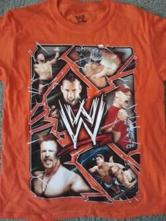 WWE Kids Orange cm Punk John Cena Superstars T Shirt Size XL 14 16