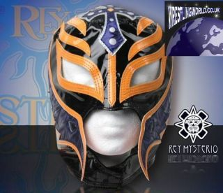 WWE Official Licensed Kids Size Rey Mysterio Replica Mask Black Orange