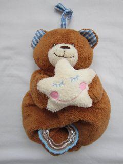 Kids II Musical Teddy Bear Brown Plush Star Rattle Twinkle Twinkle