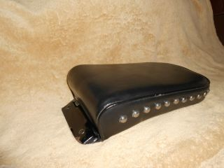 Harley Davidson Black Studded Back Seat Pad 7Wide 12Long