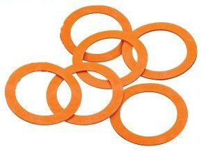 of 6 x Replacement Rubber Sealing Rings for Glass Kilner Jars