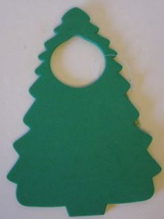 Foam Christmas Tree Door Hanger Kids Craft Project