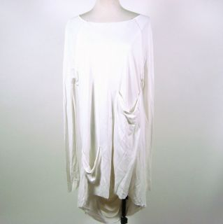 Khloe Kardashian Kimberly Ovitz White Long Sleeved Drape Dress