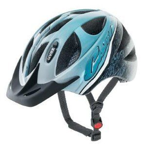 Uvex Light Blue Hero Kids Bicycle Helmet with LED