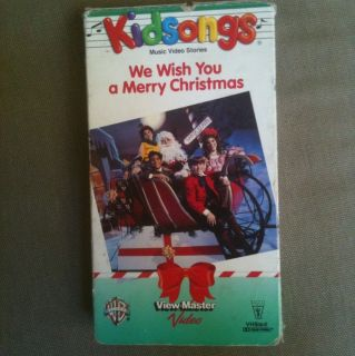 Kidsongs We Wish You A Merry Christmas Video VHS