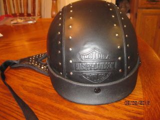 Harley Davidson Womens Leather Half Helmet