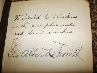 GEORGE ALBERT SMITH SIGNED LDS MORMON BOOK by John A. Widtsoe RARE