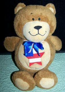 Kids II Stuffed Brown Teddy Bear Prayer Friends Star