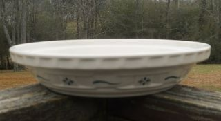 Longaberger Woven Traditions Pottery Heritage Green PIE PLATE USA No