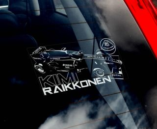 Kimi Raikkonen F1 Car Window Sticker Lotus Renault Formula 1 N Rally