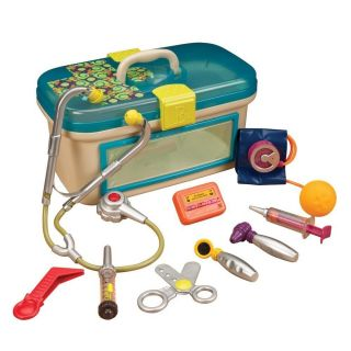 Kids Toddler Pretend Safe Doctor Dr Toy Medical Doctors Kit Carry Case