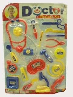 Doctor Nurse Medical Pretend Play Kit for Kids w Utensils