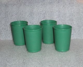 Tupperware TupperToys Mini Tumblers HUNTER GREEN Play Food Dishes Kids