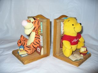 Disney Winnie The Pooh Tigger Bookends Book Buddies Wooden Kids Room