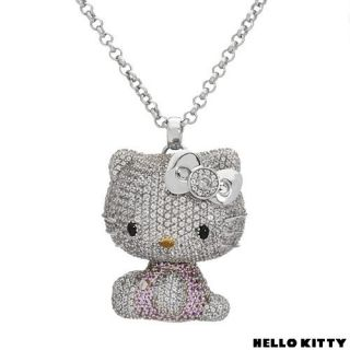 Kimora Lee Simmons Hello Kitty Doll 18K Gold 925ss Topaz Dia Sap