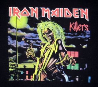 Iron Maiden Killers T Shirt Mens Large