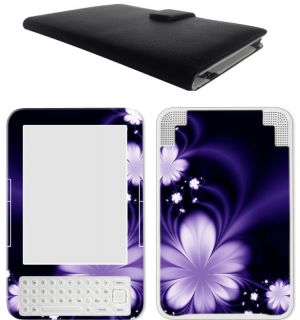 eBook Kindle 3 Kindle Keyboard Leather Case Cover Jacket Skin
