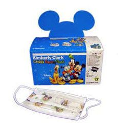 Kimberly Clark Childs Face Mask with Earloops 75 box Disney characters