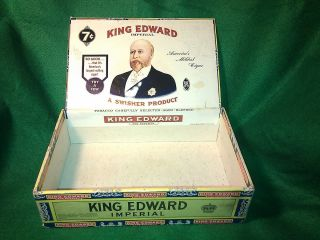 Vintage King Edward The 7th Imperial Brand 7¢ Cent Cigar Box Receipt