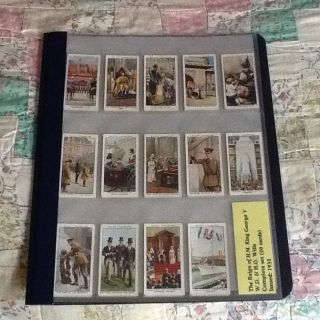 1935 Tobacco Cards Reign of King George V Complete 50 Card Set Willss