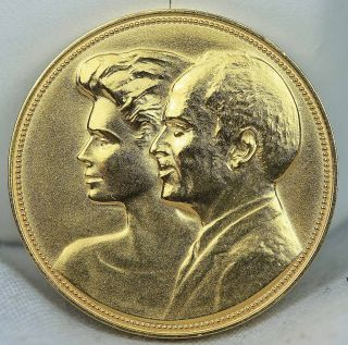1988 Jordan King Hussein Royal Court Gold Medal RARE