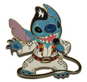 Disney Shopping Stitch The King Elvis Pin