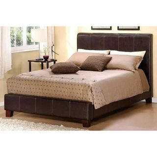 Beautiful Dark Brown Faux Leather King Size Bed New